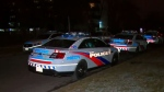 Toronto police are seen investigating a shooting in Scarborough on Monday Dec. 10, 2018.