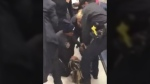 NYPD officers violently pull tot from mom's arms