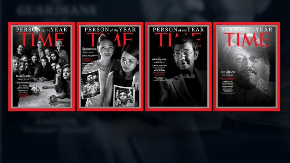 Time magazine pick 'The Guardians' as Person of the Year in 2018. (source: time.com/)