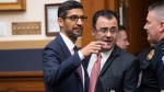 Google CEO Sundar Pichai arrives to testify before the House Judiciary Committee to be questioned about the internet giant's privacy security and data collection, on Capitol Hill in Washington, Tuesday, Dec. 11, 2018. (AP Photo/J. Scott Applewhite)