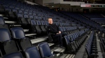 Bruce Rainnie, president and CEO of the Nova Scotia Sport Hall of Fame, poses in the stands of the Scotiabank Centre in Halifax on Monday, December 10, 2018. (THE CANADIAN PRESS/Darren Calabrese)
