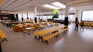 A look inside Midtown Plaza's new food court. (Courtesy: YouTube/MMC Architects)