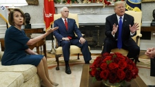 Pelosi, Pence and Trump in the Oval Office