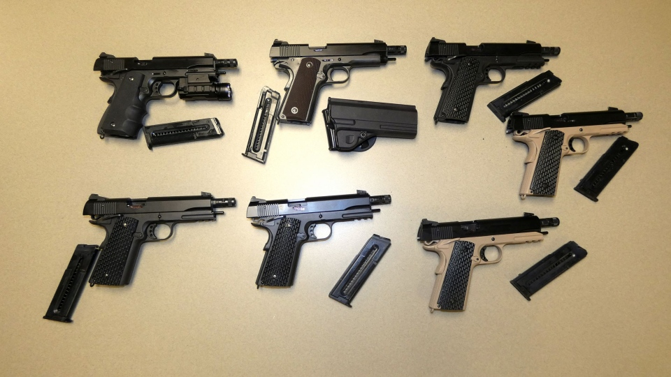 Police in the GTA seized dozens of handguns as part of Project Renner. (OPP)