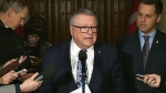 Minister Ralph Goodale holds a press conference