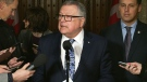 Public Safety Minister Ralph Goodale speaks to media on nation security after a briefing from officials earlier in the day.