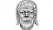 Composite released of man wanted by police for asking sexual questions to 12-year-old girl.