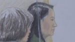 Bail hearing for Chinese exec in 3rd day