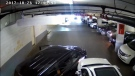 ICBC is sharing video of a bystander allegedly faking an injury following a parking lot collision.