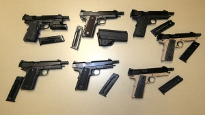 Police believe over 120 handguns were distributed by the ring. (Source: OPP)