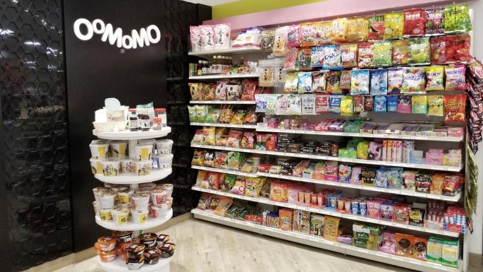 A selection of candy is seen at an Oomomo shop in Edmonton. (Facebook: Oomomo Alberta)