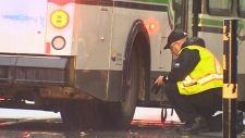 Charges considered after bus hits pedestrian