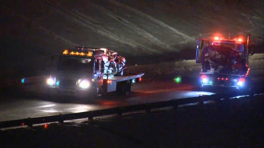 Highway 19 crash vehicles
