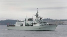 HMCS Calgary returns to Victoria Friday Oct. 24, 2008. THE CANADIAN PRESS/ Deddeda Stemler