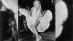 "In this Sept. 9, 1954 file photo, Marilyn Monroe poses over the updraft of a New York subway grate while filming ""The Seven Year Itch"" in New York. (AP Photo/Matty Zimmerman)"