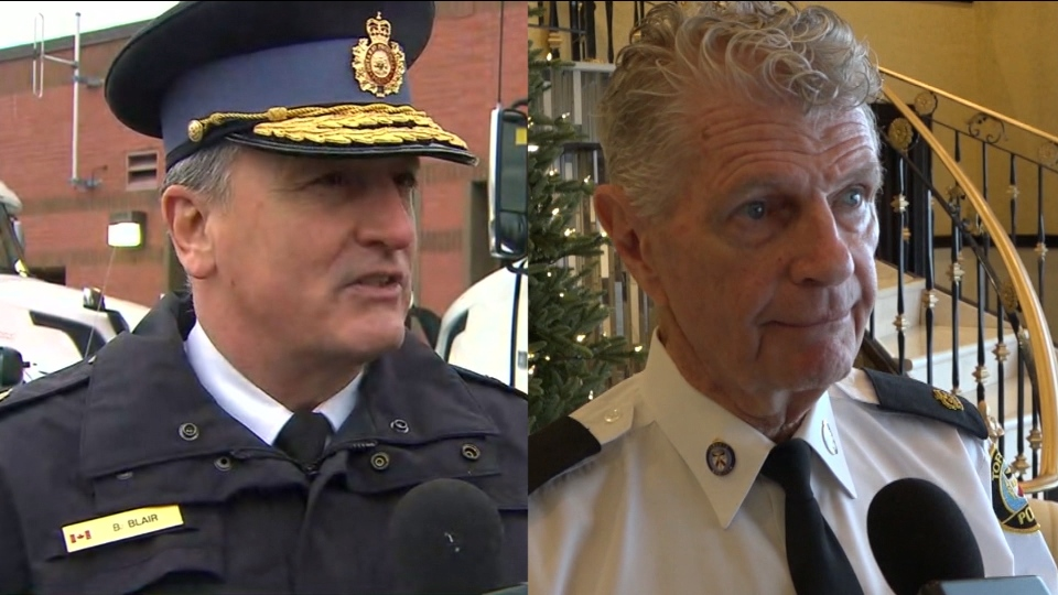 Brad Blair, left, and Ron Taverner are seen in this composite image.