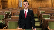 Aiden Anderson stands in the House of Commons on Wednesday, Dec. 12, 2018. (Make-A-Wish / Twitter)