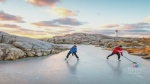 Photographer captures wintry scene at Peggy's Cove