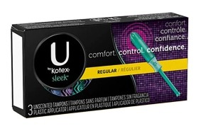 Kimberly-Clark recalled specific shipments of U by Kotex Sleek Tampons with regular absorbency, seen here, on Tuesday. (Kimberly-Clark)
