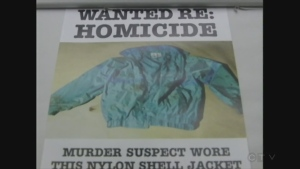 ARCHIVAL FOOTAGE: In 1998 Sudbury police say Renee Sweeney's killer was wearing a teal blue nylon ski shell jacket at the time of the crime.