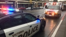 Police responded to a stabbing on Douglas Street in downtown Victoria Wed., Dec. 12, 2018. (CTV Vancouver Island)