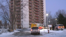 High-rise fire displaces more than 200