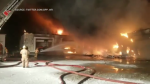 Massive fire causing millions of dollars in damage