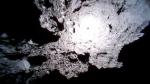 This Oct. 26, 2018, image captured by Rover-1A, and provided by the Japan Aerospace Exploration Agency (JAXA) on Thursday, Dec. 13, 2018, shows the surface of asteroid Ryugu. (JAXA via AP)