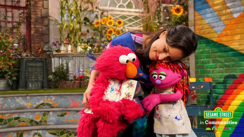Sesame Street has introduced Lily, right, a homeless character. (Sesame Street/Twitter)
