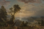 Progress (The Advance of Civilization) was painted in 1853 by Hudson River School member Asher B. Durand. (Met Museum)