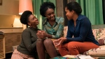 "This image released by Annapurna Pictures shows Teyonah Parris, from left, KiKi Layne and Regina King in a scene from ""If Beale Street Could Talk."" (Tatum Mangus/Annapurna Pictures via AP)"