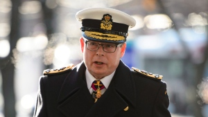 Vice Admiral Mark Norman arrives to the Ottawa Courthouse in Ottawa on Wednesday, Dec. 12, 2018. THE CANADIAN PRESS/Sean Kilpatrick