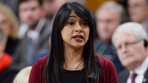 Government House Leader Bardish Chagger rises during question period in the House of Commons on Parliament Hill in Ottawa on Thursday, Dec.13, 2018. THE CANADIAN PRESS/Adrian Wyld