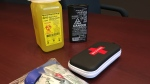 Some of the tools used when helping opioid users are seen in Oxford County, Ont. on Thursday, Dec. 13, 2018. (Bryan Bicknell / CTV London)