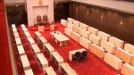 The Senate has delayed sittings in its temporary home.