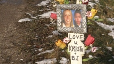 Father speaking as crash memorial goes missing