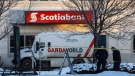 Bank explosion and robbery in Edmonton