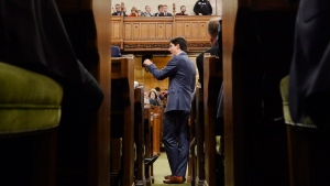 Prime Minister Justin Trudeau rises during question period in the House of Commons on Parliament Hill in Ottawa on Wednesday, Dec.12, 2018. THE CANADIAN PRESS/Adrian Wyld