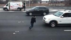 Armoured truck spills money all over N.J. highway