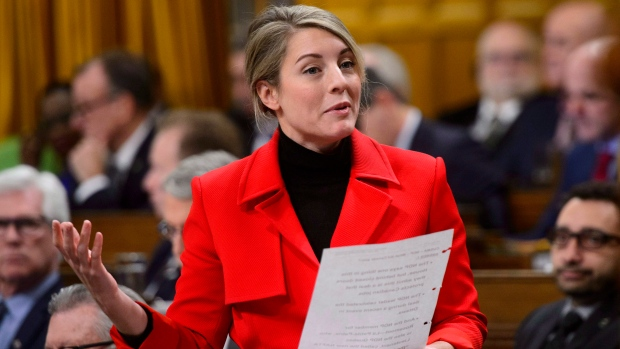 Melanie Joly, the Minister of Tourism, Official Languages and La Francophonie, stands during question period in the House of Commons on Parliament Hill in Ottawa on Monday, Dec. 3, 2018. THE CANADIAN PRESS/Sean Kilpatrick