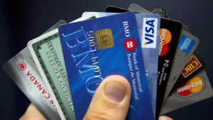Credit cards are displayed in Montreal, Wednesday, December 12, 2012. THE CANADIAN PRESS/Ryan Remiorz