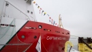 The CCGS Captain Molly Kool is presented to the media after undergoing refit and conversion work at the Davie shipyard, Friday, December 14, 2018 in Levis, Que. (THE CANADIAN PRESS/Jacques Boissinot)