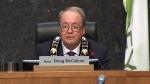 Doug McCallum speaks after being sworn in as mayor of Surrey.