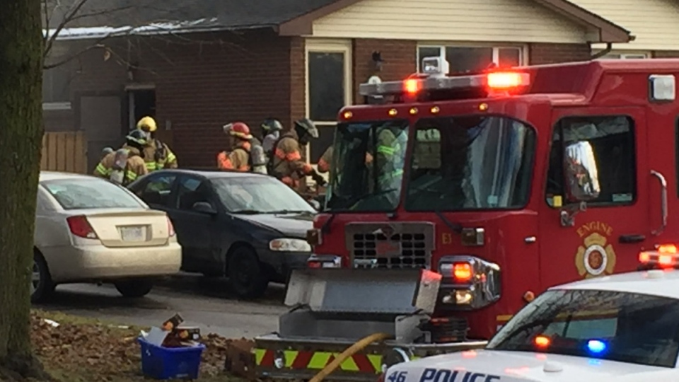 Crews respond to a house fire in south London, Ont. on Friday, Dec. 14, 2018. (Daryl Newcombe / CTV London)