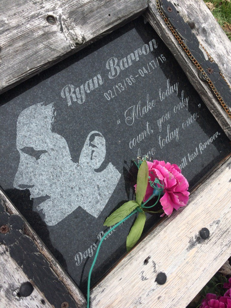 Ryan Barron memorial in Windsor, Ont., on Friday, Dec. 14, 2018. (Michelle Maluske / CTV Windsor)