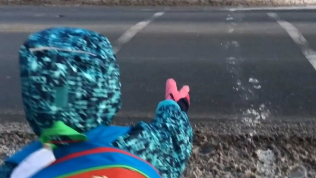 Caught on cam: Drivers ignore crosswalk signs as little girl tries to cross