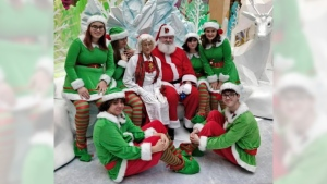 Mr. and Mrs. Claus have returned to the Londonderry Mall after Santa had a health scare. Courtesy: Londonderry Mall
