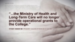 Ford Gov't cuts funding to midwife college
