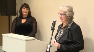 Jeannette Brownlee was one of two people recognized Friday for 55 years of volunteer service at Northlands.