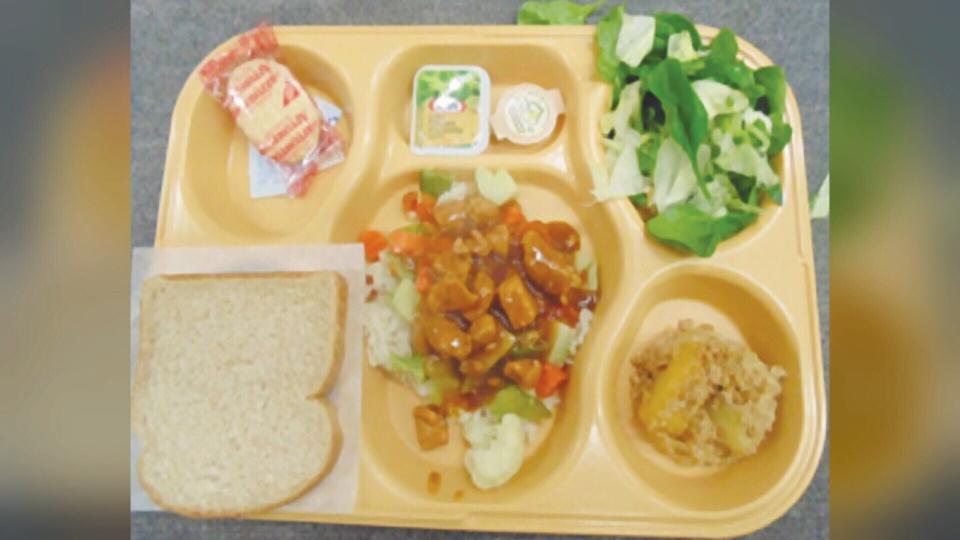 The food portions at Saskatchewan Penitentiary. (Courtesy: Saul Laliberte)